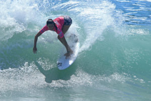 Malia Manuel during Finals against Coco Ho. Credit Steinmetz for ASA Entertainment